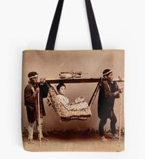 Japanese Kago, travelling chair Tote Bag
