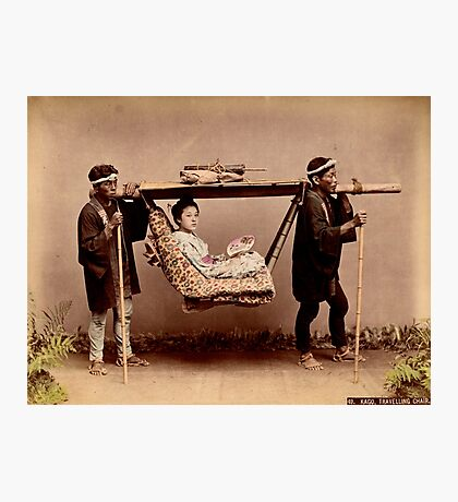 Japanese Kago, travelling chair Photographic Print