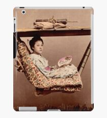 Japanese Kago, travelling chair iPad Case/Skin