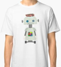 Giant silver robot with a boat hat Classic T-Shirt