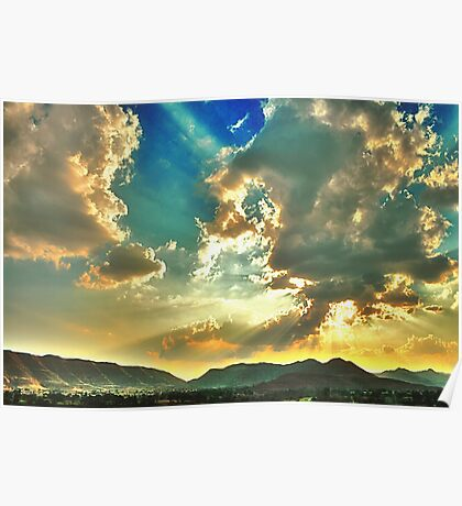 Colors of Evening Sky Poster