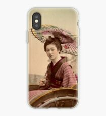 Geisha travelling by jinrikisha iPhone Case
