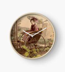 Geisha travelling by jinrikisha Clock
