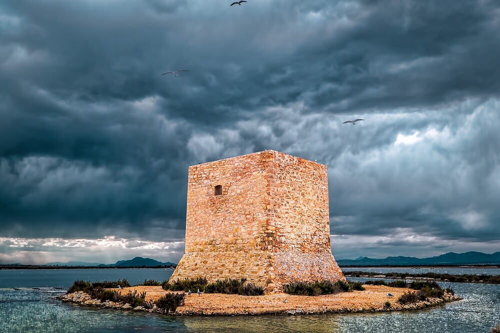 Dramatic Sky over Torre De Tamarit by Dekkoboyo