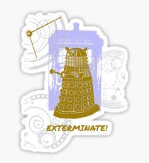 Dalek EXTERMINATE Fade Shirt Sticker