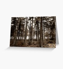 into the forests of the night Greeting Card