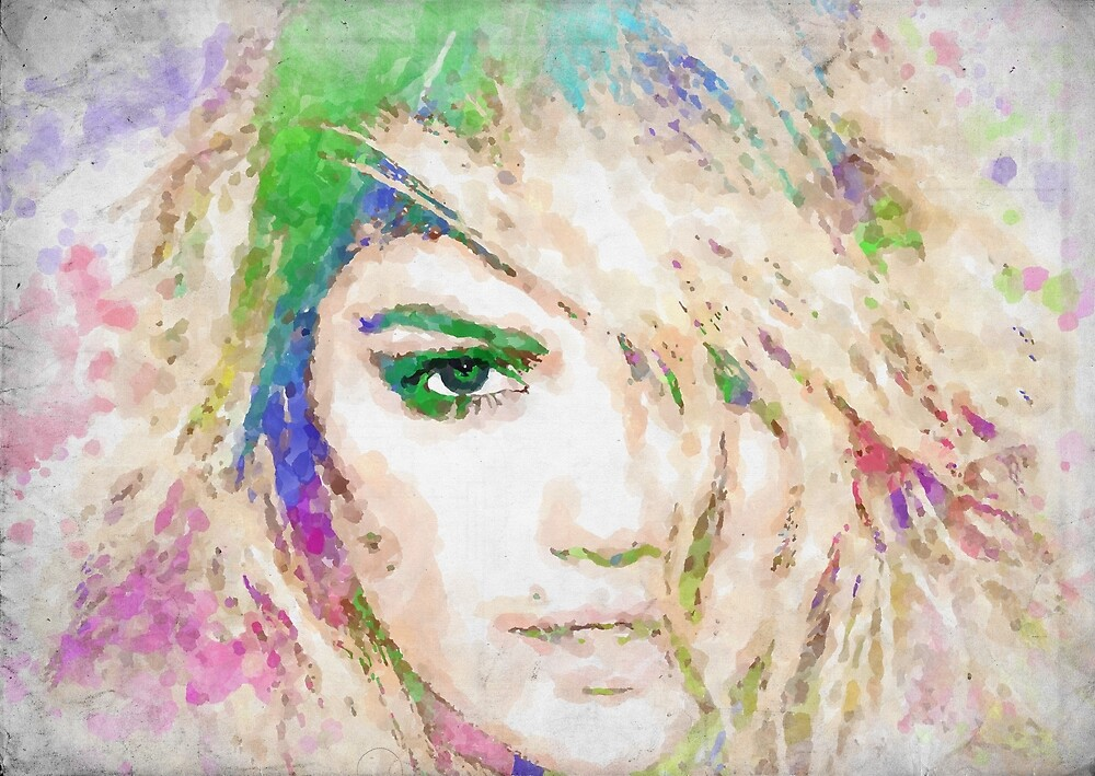 Kate Upton Watercolor by RickyBarnard