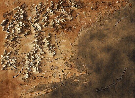 Karte von Neuengland von Callum Ogden