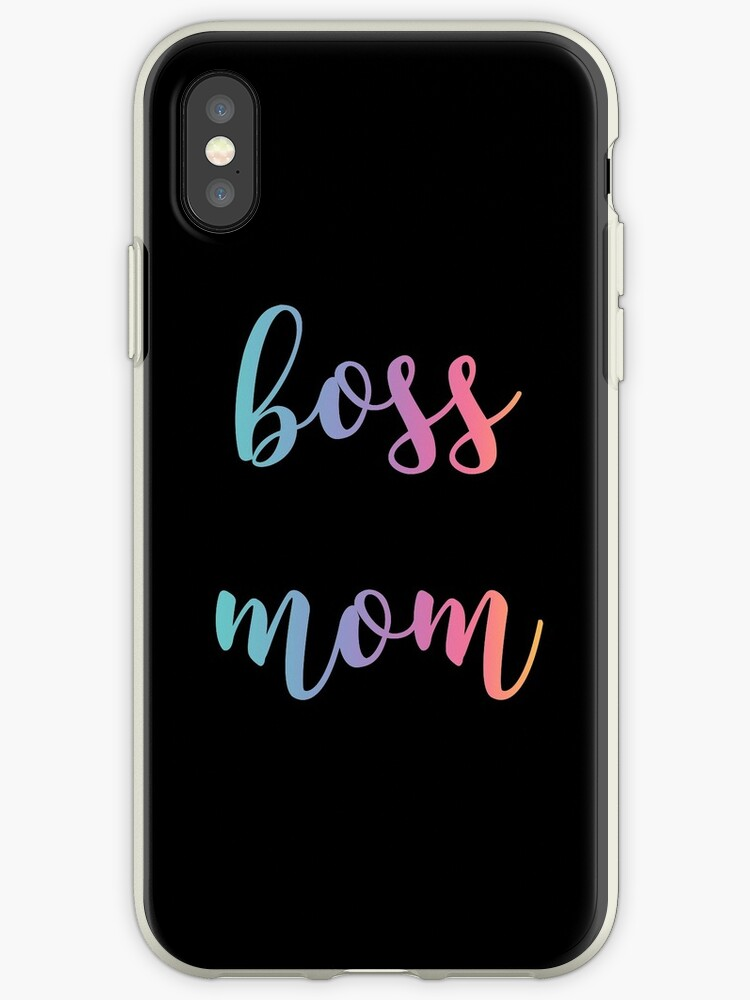 Boss Mom- Rainbow colors by CacaoDesigns
