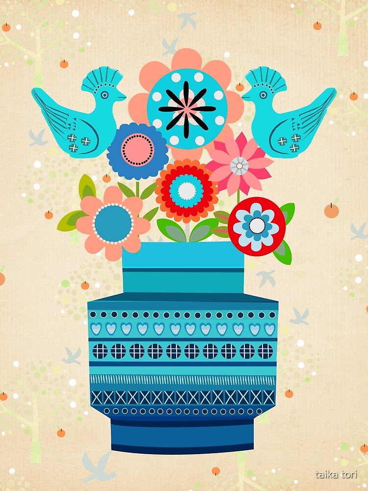 Bitossi Vase with Flowers by Elisandra Sevenstar