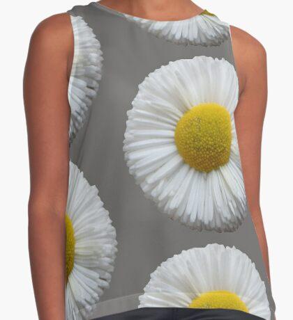 schöne Sommer Blume in der Farbe weiß Kontrast Top