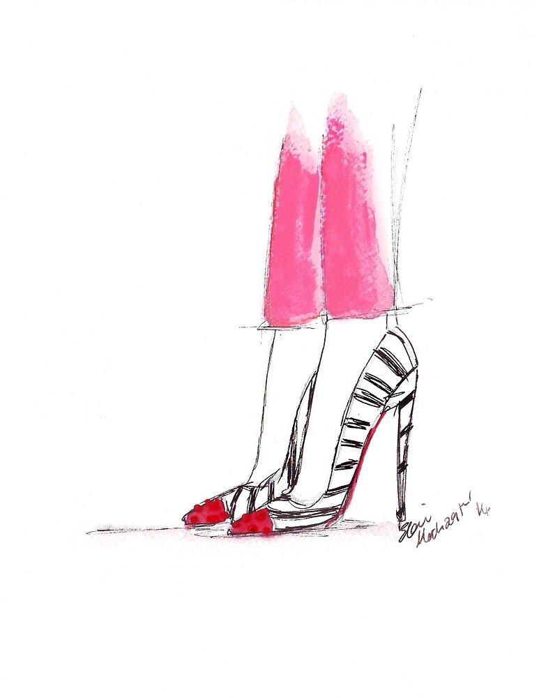 Super Hot Pink Pants by Eleni Fall into London