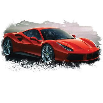 Red Ferrari brushed by Edvinas