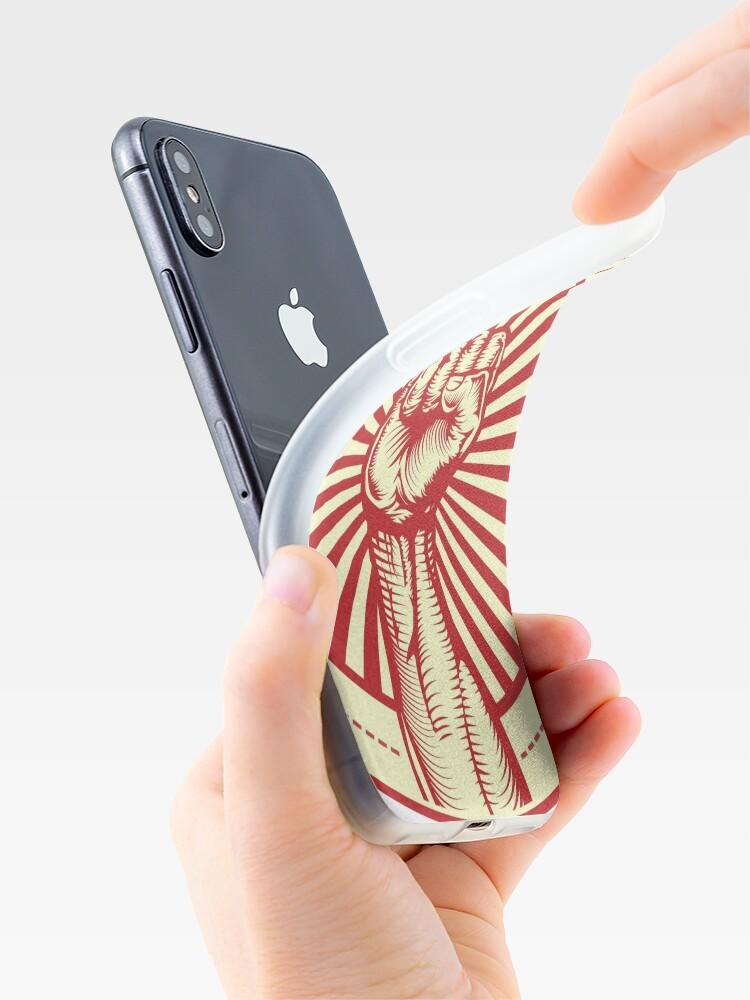 Alternate view of Grasping Triumph Russian Propaganda Raised Fist Art  iPhone Case & Cover