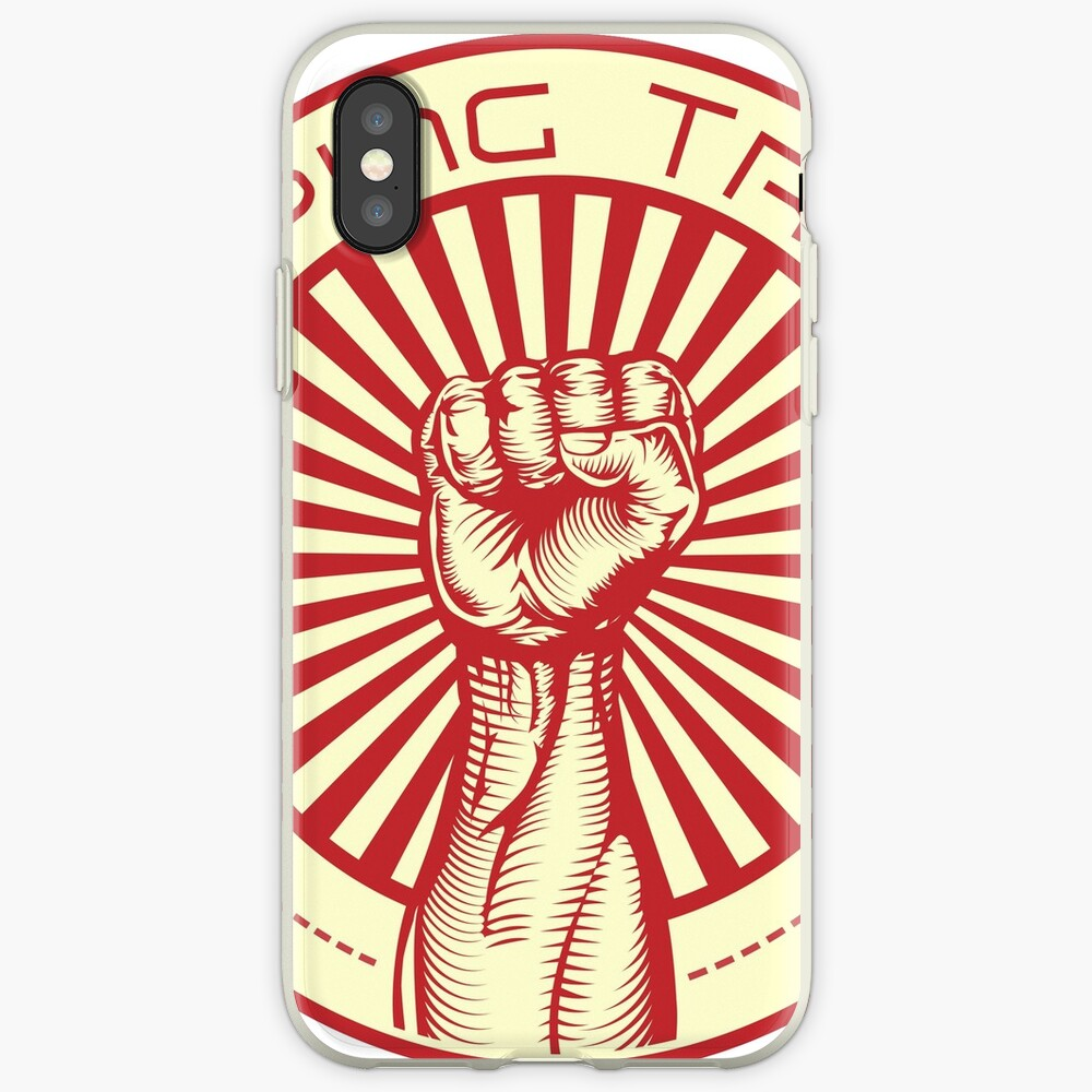 Grasping Triumph Russian Propaganda Raised Fist Art  iPhone Case & Cover