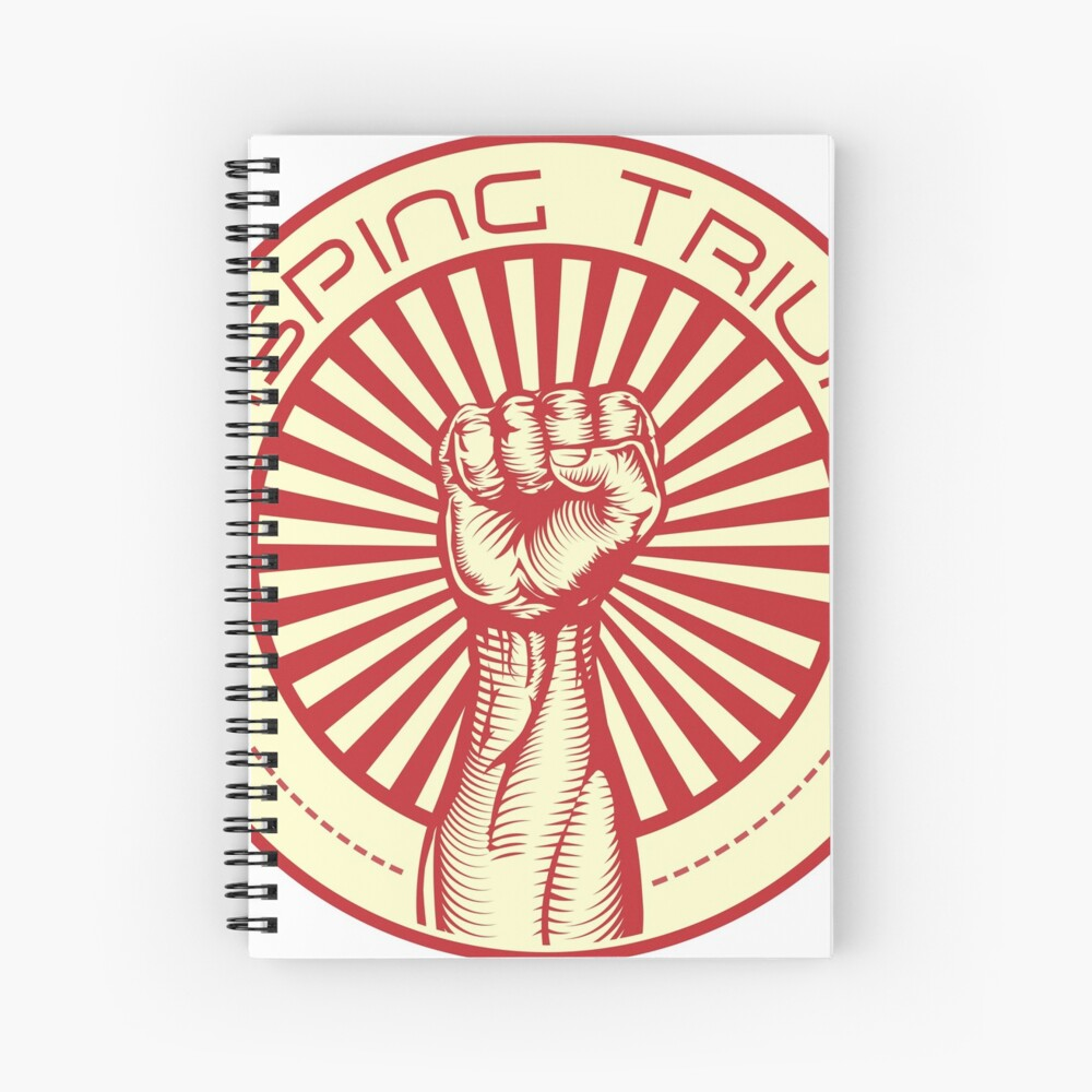 Grasping Triumph Russian Propaganda Raised Fist Art  Spiral Notebook