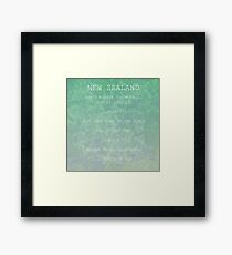 FOTC (New Zealand Posters) Framed Print