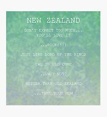FOTC (New Zealand Posters) Photographic Print