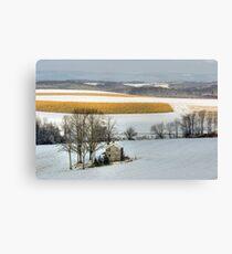 Cold Winter Sunrise Canvas Print
