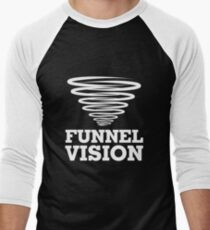 Funnel Vision Shirt Funny Weather Geek Shirt Weather Shirt Men's Baseball ¾ T-Shirt