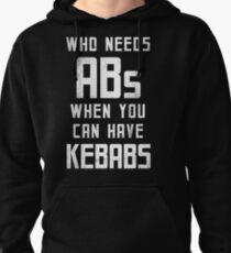 Kebabs - White Pullover Hoodie
