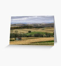 Forgotten Farmhouse In Late Fall (Full View) Greeting Card