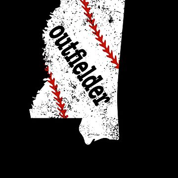 Mississippi Softball Outfield Baseball Outfield by shoppzee