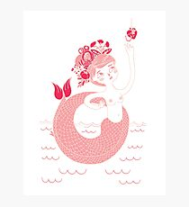 Mexican pink mermaid Photographic Print