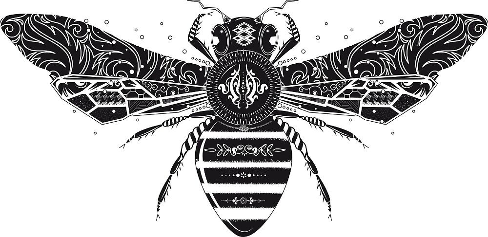 artistically designed bee by Kisho