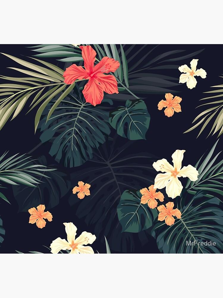 Dunkle tropische Blumen von MrFreddie