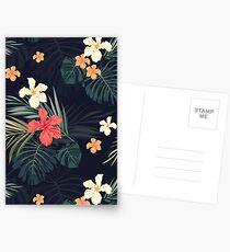 Dunkle tropische Blumen Postkarten