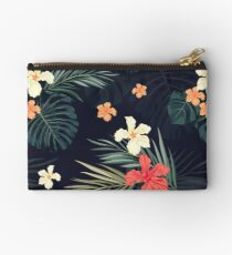 Dark tropical flowers Studio Pouch