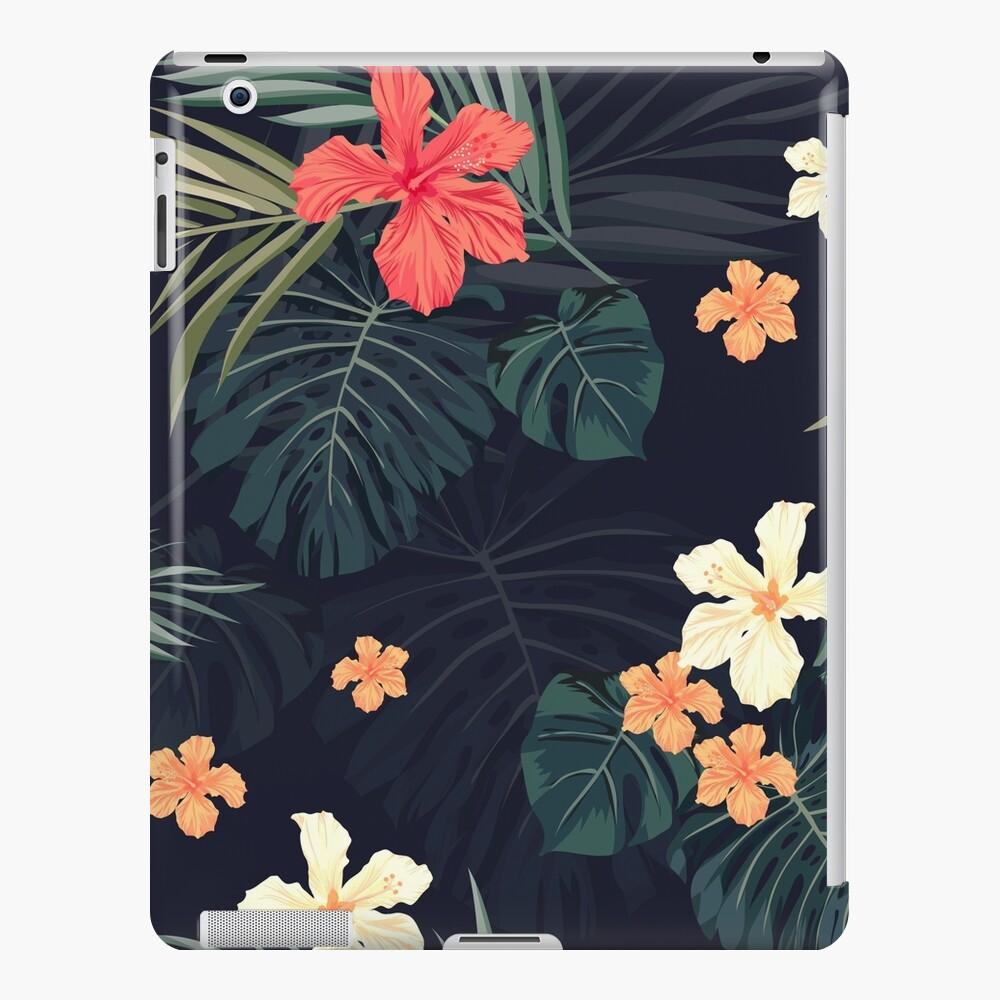 Dunkle tropische Blumen iPad-Hülle & Skin