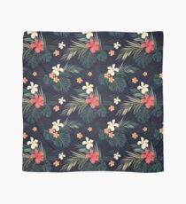Dark tropical flowers Scarf