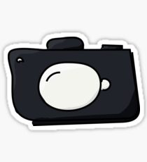 Cartoon DSLR Camera Sticker