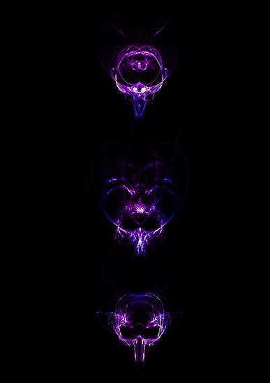 Abstract Vertical Skulls - Purple by viovis