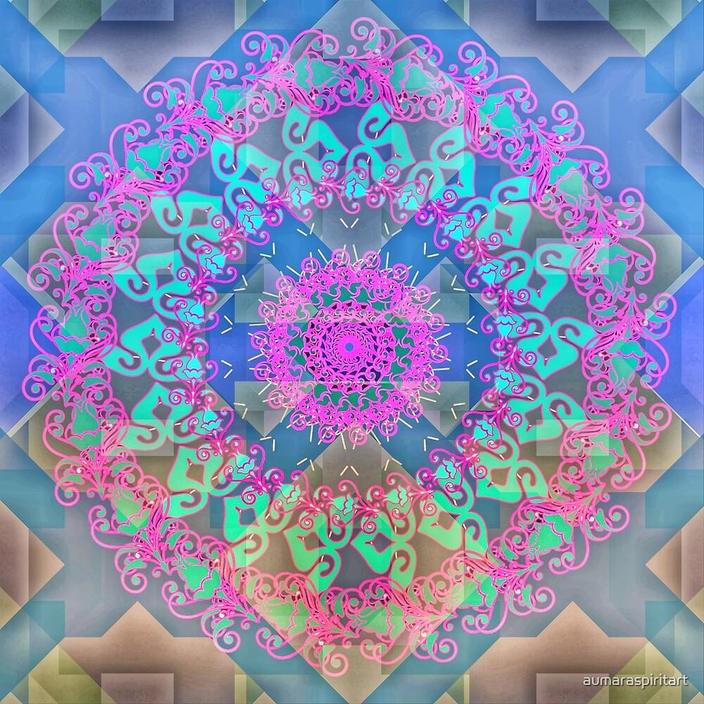Spring Mandala by aumaraspiritart