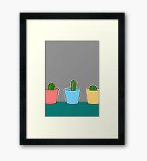 Three Little Cactus Framed Print