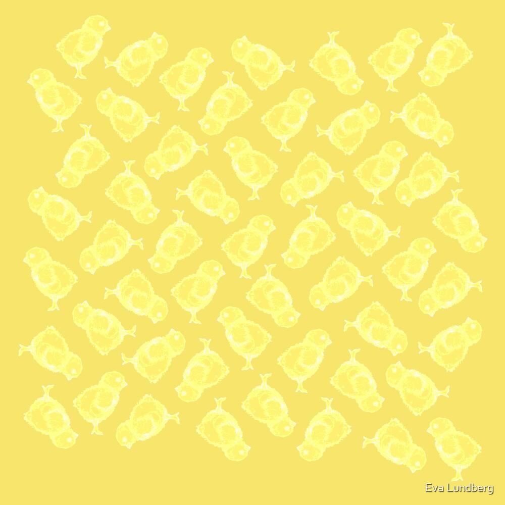 Yellow Easter chicken pattern by Eva Lundberg