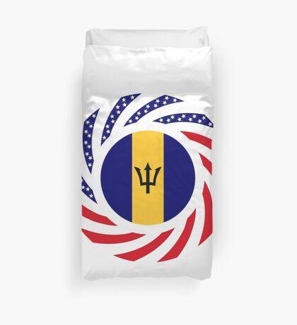 Barbadian American Multinational Patriot Flag Series Duvet Cover