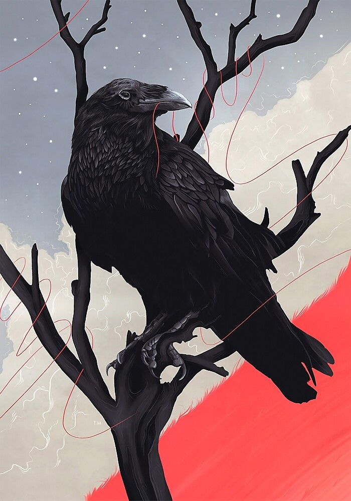 the raven bites the red thread by kierrantuki