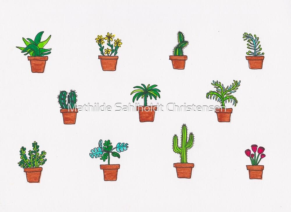 Plants pattern by Mathilde Sahlholdt Christensen