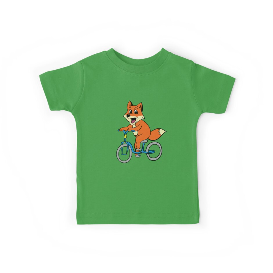 Cute Fox Riding A Bike  by trendspeaks