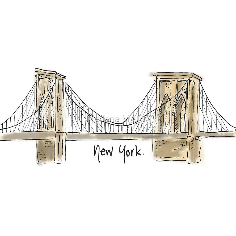 Brooklyn Bridge by Mariana Ramírez