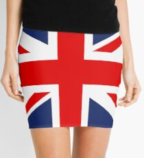 Union Jack Flagge des Vereinigten Königreichs. Minirock