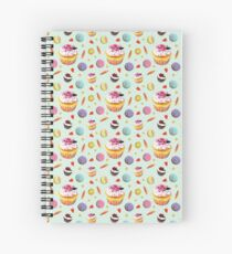 Cupcake and French Macaroons Party - Maive Ferrando Spiral Notebook