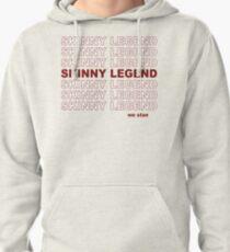 Skinny Legend Vintage Shopping Bag Pattern Pullover Hoodie
