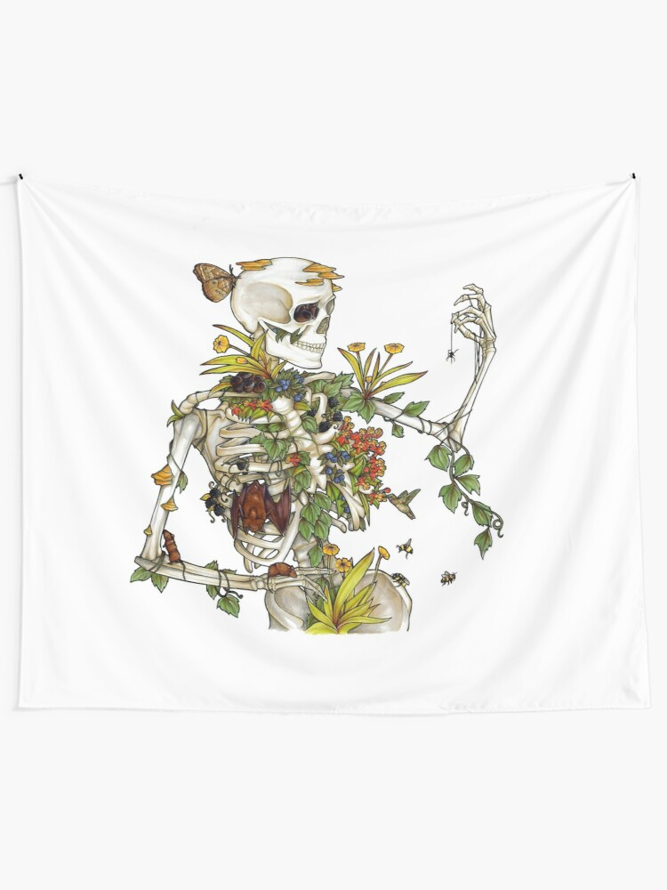 Alternate view of Bones and Botany Wall Tapestry