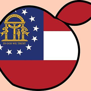 GeorgIa Peach Flag by richdelux