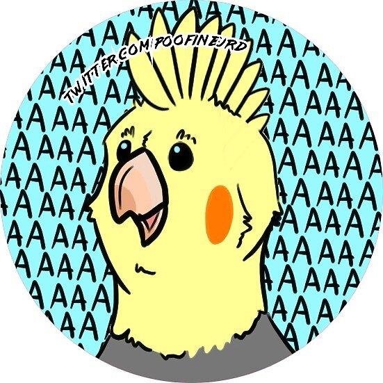 Lutino Cockatiel Bird - Beep - Round Ver by poofinburd